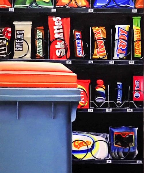 Food locker. oil on canvas 150 x 50 cm