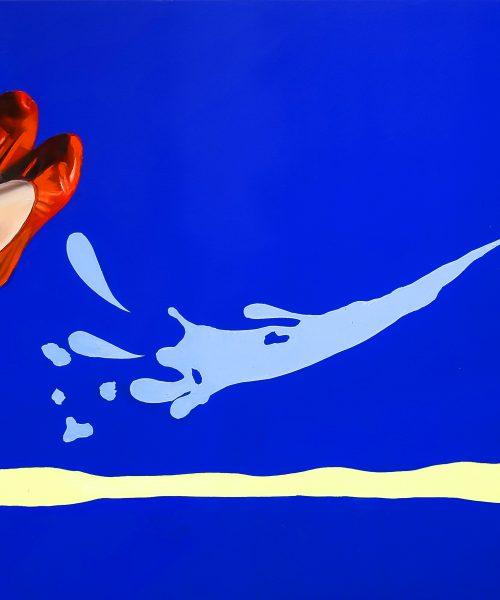 Inflamable.Óleo sobre lienzo/Oil on canvas.146 X 89 CM.