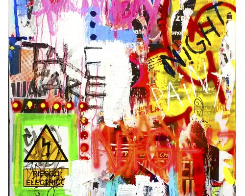 Paredes 1 Mixed media on canvas 150 x 110 cm