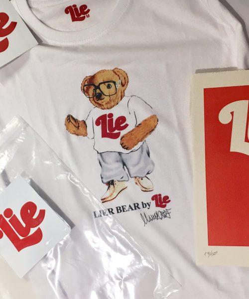 LIER BEAR. 2ª Edición camisetas Lie. 50 unidades firmadas y numeradas.