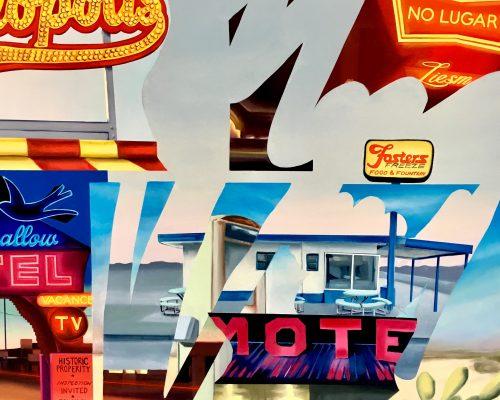 Ocean lodge. No vacancy. Óleo sobre lienzo/Oil on canvas. 110 x 110 cm.